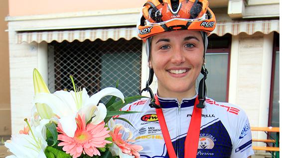 Laura Tomasi allo sprint nella gara di Noventa di Piave