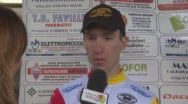 Lorenzo Friscia  primo  sul traguardo di Ponsacco