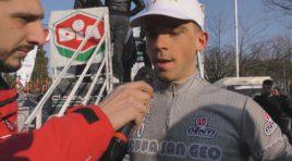 Enrico Zanoncello allo sprint nella 96^ Coppa San Geo